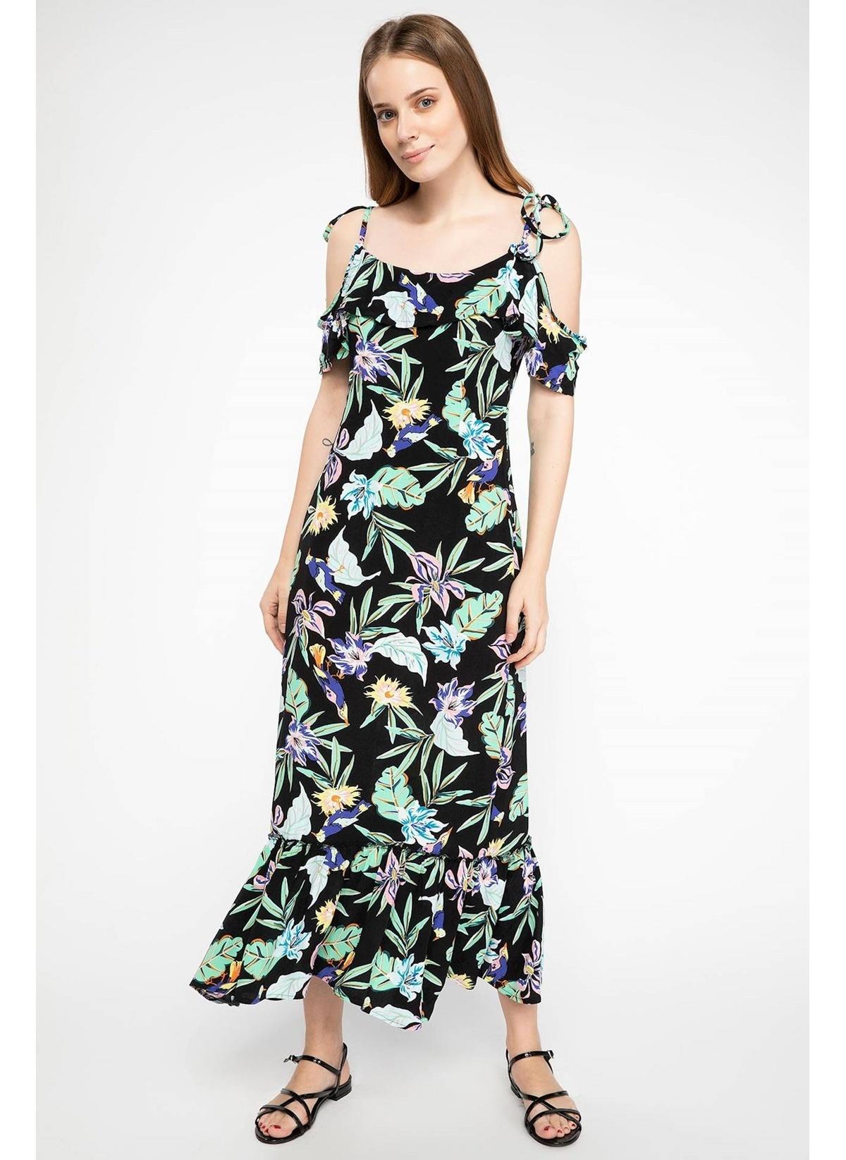 Defacto Omuz Dekolteli Floral Desenli Elbise J3677az18hsbk46elbise – 69.99 TL